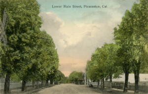 Lower Main Street, Pleasanton, California, mailed 1910
