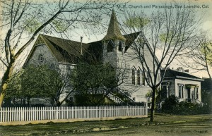 M. E. Church and Parsonage, San Leandro, Cal. mailed 1913