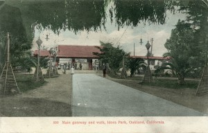 Main gateway and walk, Idora Park, Oakland, California
