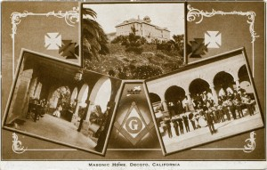 Masonic Home, Decoto, California, mailed 1908