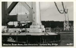 San Francisco - Oakland Bay Bridge Massive Tower Base