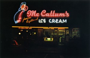 McCallum's famous highland Ice Cream, 1825 Solano, Berkeley, California