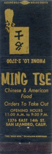 Ming Tse, 1376 East 14th St., San Leandro, Calif.