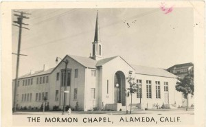 Mormon Chapel at Grand Street and Encinal Ave., Alameda, California