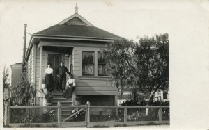 Mr. and Mrs. Woods at their home in Alameda, California, mailed 1908