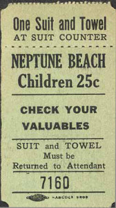 Neptune Beach, Alameda, California, children ticket