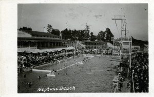 Neptune Beach, Alameda, California, postcard mailed 1923