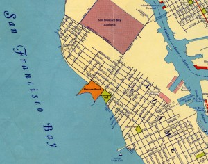 Neptune Beach on Alameda, California Map 1939