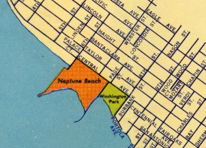 Neptune Beach on Alameda, California Map 1939