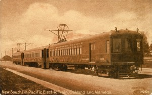 New Southern Pacific Electric Train, Oakland and Alameda, California