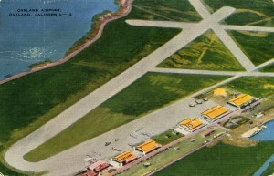 Oakland Airport, Oakland, California mailed 1943