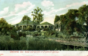 Hotel and Garden, Piedmont Springs, mailed 1908