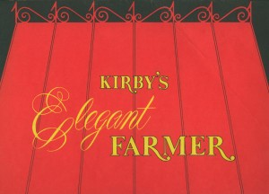 Elegant Farmer, Jack London Square, Oakland, California, menu front