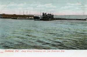 Long Wharf Entering into San Francisco Bay, Oakland, Cal.
