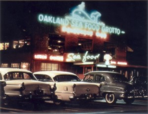 Oakland Seafood Grotto, Jack London Square, Oakland, California circa mid 1950s