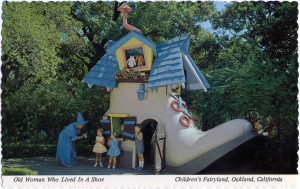 Old Woman who Lived in a Shoe, Children's Fairyland, Oakland, California
