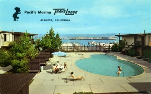 Pacific Marina Travelodge, Alameda, California, mailed 1973