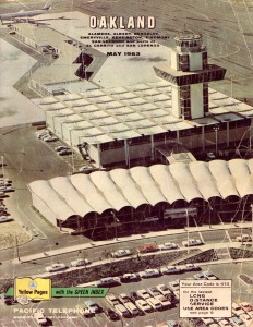Oakland Airport, Pacific Telephone Directory Cover, Oakland, California, 1963