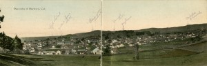 Panorama of Hayward, California, mailed 1909