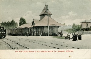 Park Street Station of the Southern Pacific Co., Alameda, California