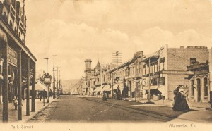 Park Street, Alameda, Cal., mailed 1909