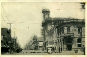 Park Street at Central Ave., looking north,, Alameda, California