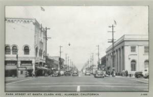 Park Street at Santa Clara Ave., Alameda, California