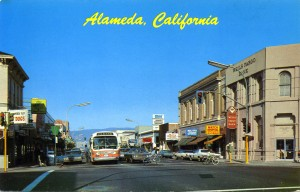Park Street at Central Ave., looking north, Alameda, California
