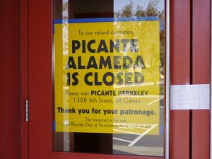 Picante Playa, Alameda, now closed, January 2004