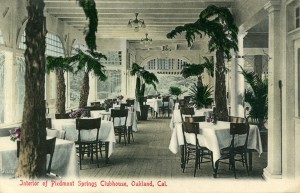Interior of Clubhouse, Piedmont Springs, Oakland, California