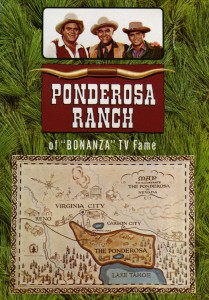 Ponderosa Ranch Bonanza TV Fame, Lake Tahoe, Map