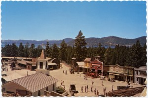 Ponderosa Ranch showing Lake Tahoe in the background, Incline Village, on the North Shore of Lake Tahoe, Nevada