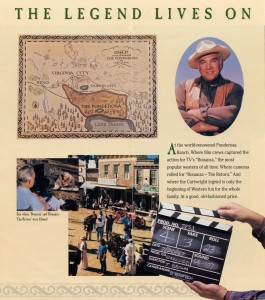 Ponderosa Ranch, Lake Tahoe, Home of Bonanza and Bonanza the Return brochure