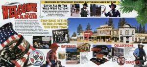 Ponderosa Ranch, Tahoe's Premier Attraction, Western Studio and Theme Park, Brochure C
