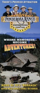 Ponderosa Ranch, Tahoe's Premier Attraction, Western Studio and Theme Park, Brochure cover