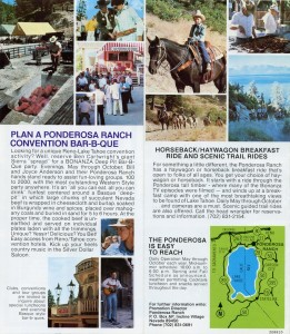 Ponderosa Ranch, Western Fun for Everyone, brochure, E