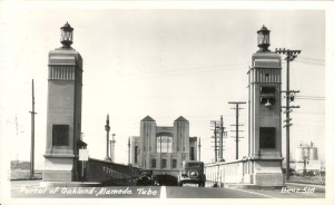 Portal of Oakland - Alameda Tube, mailed 1948