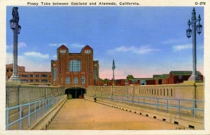 Posey Tube between Oakland and Alameda, California, mailed 1948