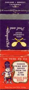 Prime_Rib_Room_Hotel_Claremont_Berkeley_California_matchbook