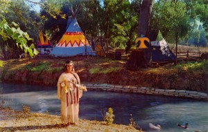 Princess Tenaya on Indian Island, Frontier Village, San Jose, California