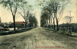 Railroad Ave., (Winter Scene), Haywards, Cal.