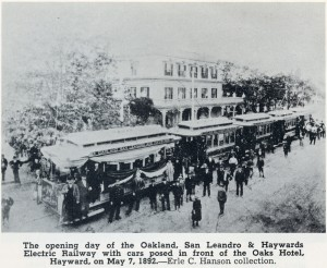 Railway and Oaks Hotel, Hayward, California