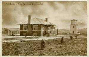 Residence at Game Farm near Hayward, California mailed 1912