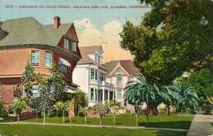 Residences on Grand St., Alameda, California, mailed 1912