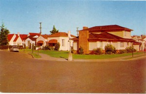 Residential Area, Beautiful sun-flooded homes and gardens, Alameda, California
