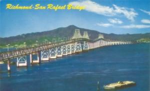 Richmond - San Rafael Bridge, Mt Tamalpais  seen in Background