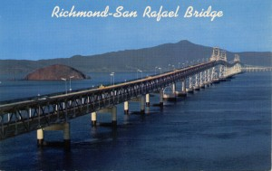 Richmond - San Rafael Bridge from Marin County to Contra Costa County, California