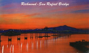 Richmond - San Rafael Bridge mailed 1960