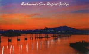 Richmond - San Rafael Bridge mailed 1960
