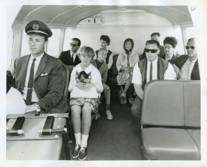 SFO Helicopter Airlines Hovercraft Crew and Passengers at the Oakland International Airport, 1965